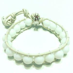 Jewelry - White Onyx wrap bracelet - made to order