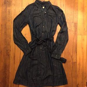 LOFT Dresses & Skirts - LOFT button down denim dress extra small tall