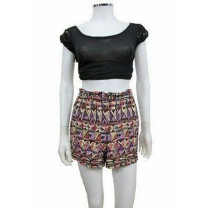 Anthropologie Lilka PP motif shorts Sz M