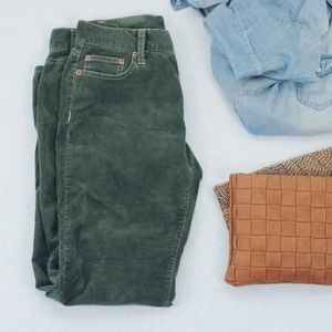 NWOT Olive Green Corduroy Pants