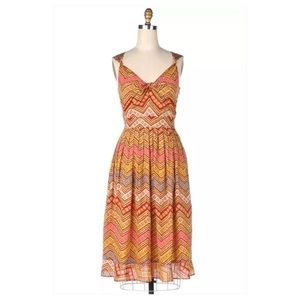 Anthropologie Zigs and Zags Dress