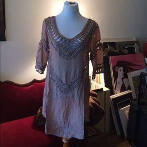 Dresses & Skirts - Boho crochet dress.