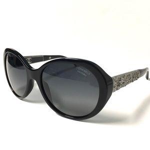 CHANEL Accessories - CHANEL Black Polarized Sunglasses Bijou Collection