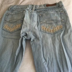 Distressed embellished Abercrombie and Fitch Jean