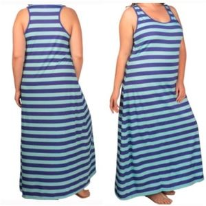 Dresses & Skirts - NWT Aqua/Blue Striped Maxi Dress