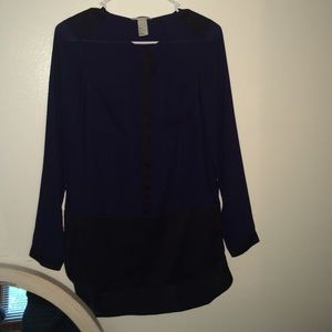 Brand new h&m blue and black blouse