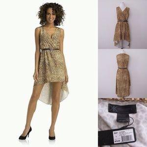 Kardashian Kollection Dresses & Skirts - Kardashian Graffiti Leopard Hi-Low Dress