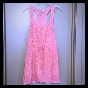 LC Lauren Conrad Coral Lace Dress