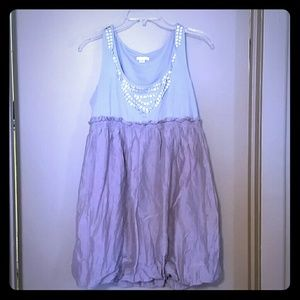 Smokey Lavender and Gray Bubble Dress