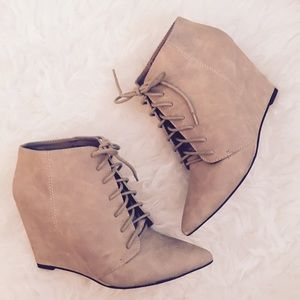 Lace Up Ankle Booties Michael Antonio