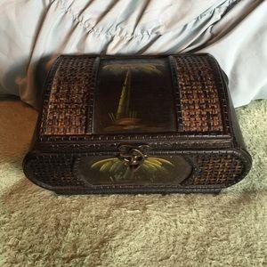 Palm Tree wooden box