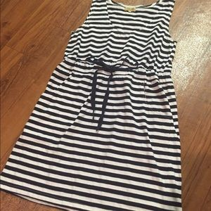 Piko Dresses - Piko Navy Striped Dress/Cover Up