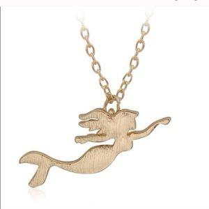 NWT Gold Plated Mermaid Necklace