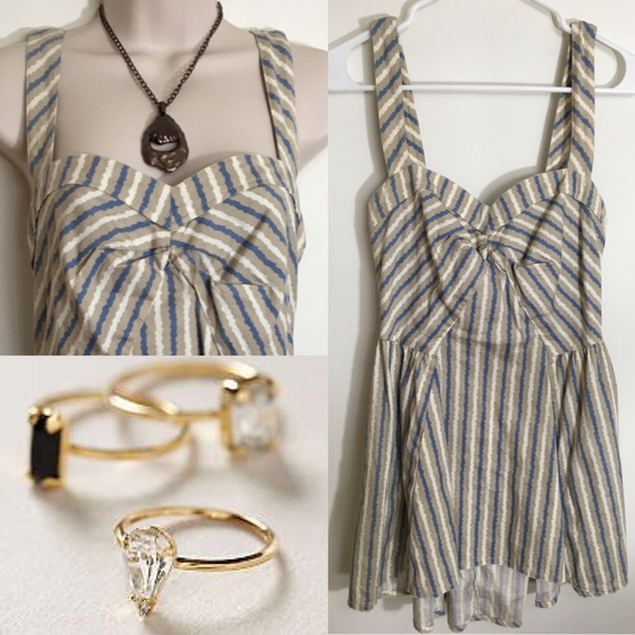 Free People Tops - Adorable free people striped tunic top size small