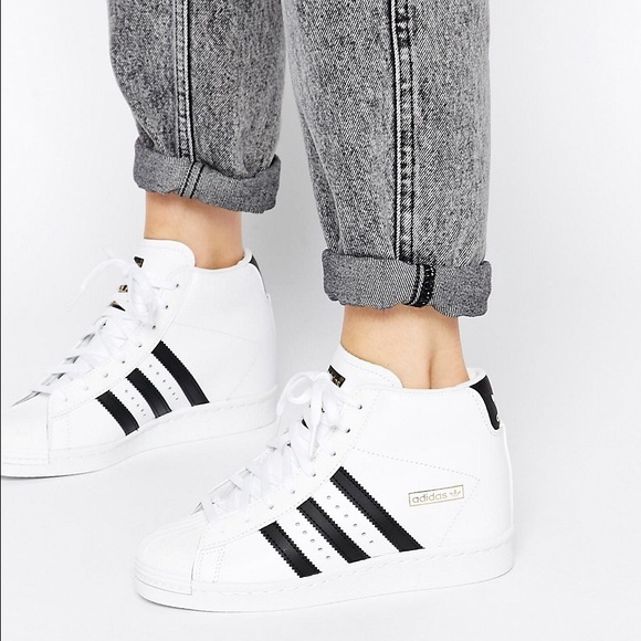 Adidas Shoes - Adidas White Superstar Wedge Sneakers e0123e36b