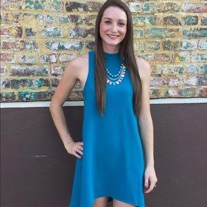 Turquoise Hi Low Dress