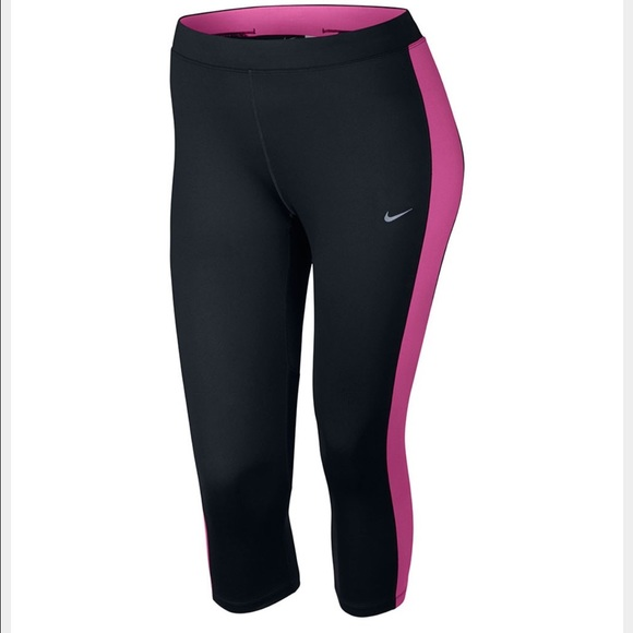 55% off nike pants - nike plus size women essential capri leggings