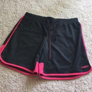 Reebok Pants - Reebok Black & Pink Shorts