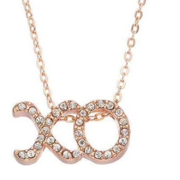 Juicy Couture Jewelry New Rose Gold Xo Necklace Poshmark