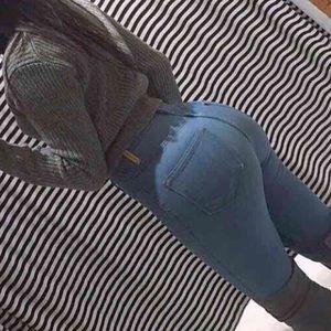 Sexy High rise waist skinny sexy light jeans sz3