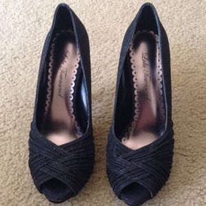 Lulu Townsend Shoes - Lulu Townsend Peeptoe Pumps, sz 6 1/2