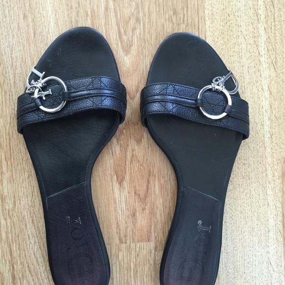 ffea5366201e96 Christian Dior Shoes - Christian Dior Black Cannage Leather Flats Shoes