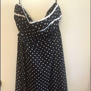 Dresses & Skirts - Black and White Polka Dot Dress