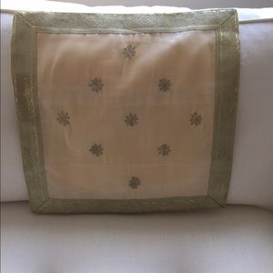 Other - 3 Ivory and gold silk cushion covers 16x16