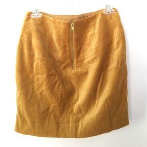 54aff1fd3a H&M Skirts | Hm Velvet Mustard Yellow Gold Skirt | Poshmark