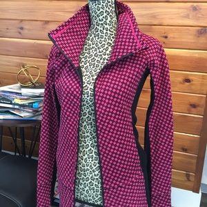 Lululemon pink and black zip sweater