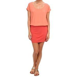 NWT Soft Joie Mixed Media Blouson Brix Dresss