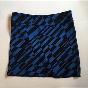 Black & Blue Mini Skirt