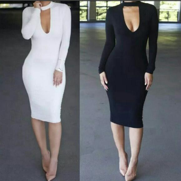 Dresses | Plus Size White Bodycon Dress | Poshmark