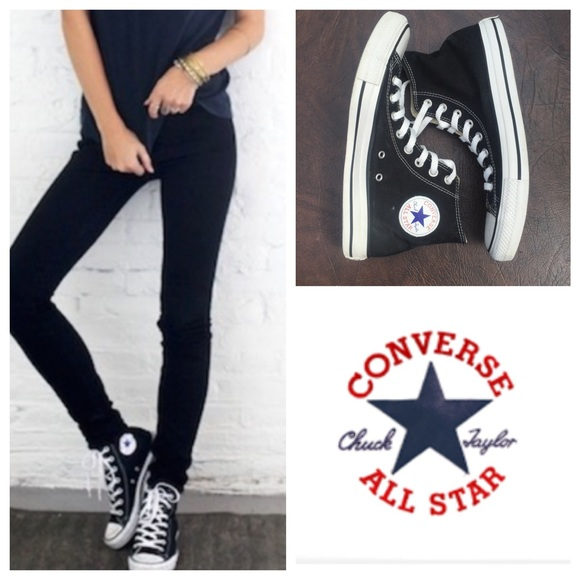 Converse Shoes - Black broken in Converse All Star High Tops 81ed39545