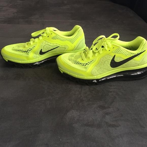 promo code 2295e 9a30d Nike Air Max 2015 Black Neon Green Women s Kids. M 574a2a018f0fc42ecd012a85