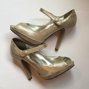 Champagne Heels by Wet Seal