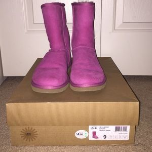 GENTLY USED Pink Mid-calf UGGs.