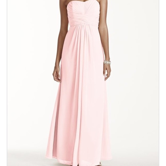 e92929ffdcfbf David's Bridal Dresses & Skirts - David's Bridal F1555 Long Strapless  Chiffon Dress