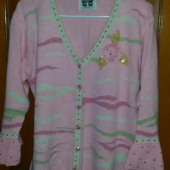 95% off Storybook Knits Sweaters - Pretty pink sequin cardigan ...