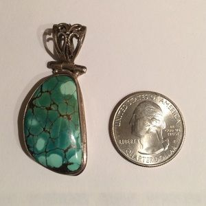 💢reduced 925 Silver turquoise pendant