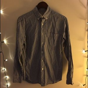 Two J.CREW Woven cotton dress shirts in plaid XS