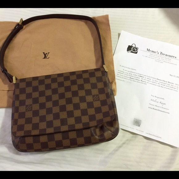 b768459134dd Louis Vuitton Handbags - Louis Vuitton Musette Tango in Damier Ebene