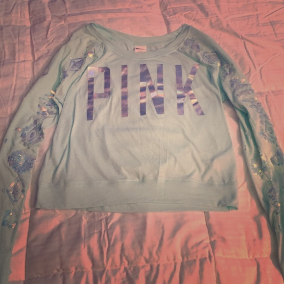 ea136d4f7d57e2 Brand new vs pink aqua sequin top large 🌹🌹🌹. M_574a3e4aa88e7de1b902da4b