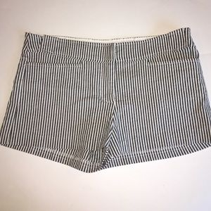 Necessary Objects Pants - Striped Shorts by Necessary Objects