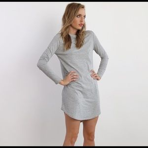 Neuw Dresses & Skirts - Neuw Grey Stripe Rebel Dress