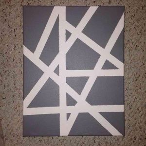 Accessories - Grey Abstract Canvas Painting Wall Decor