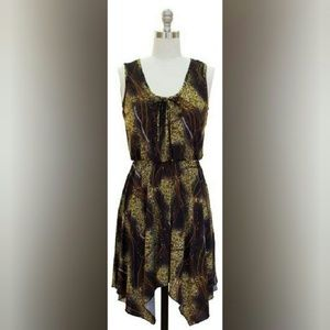 Clearance Animal Print Handkerchief Dress