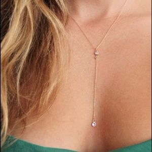 Jewelry - ✂️14K GOLD FILLED Y-Necklace with CZ