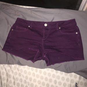 Maroon cut off shorts!