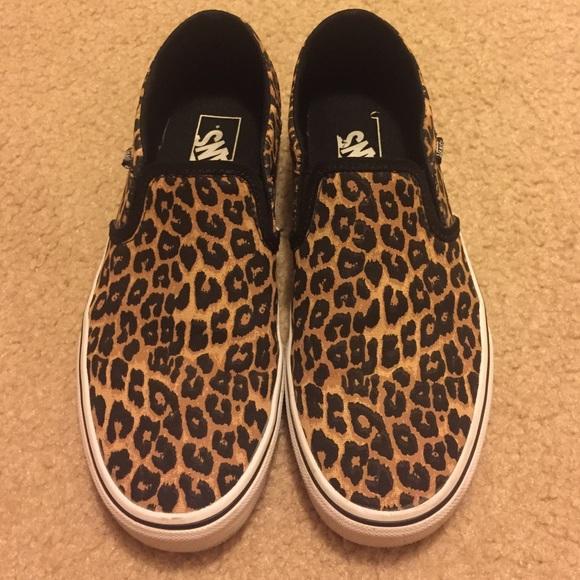 Vans Leopard Print Slip-Ons. M 574a50342fd0b708950176ea c42d7a7c0
